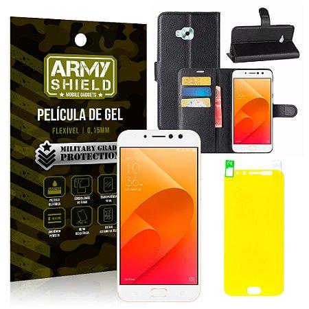 Kit Capa Carteira Asus Zenfone 4 Selfie Pro ZD552KL 5.5 Capa Carteira + Película - Armyshield