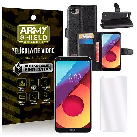 b82c39f14b Kit Capa Carteira LG Q6 / Q6 Plus M700TV 5.5 Capa Carteira + Película -  Armyshield