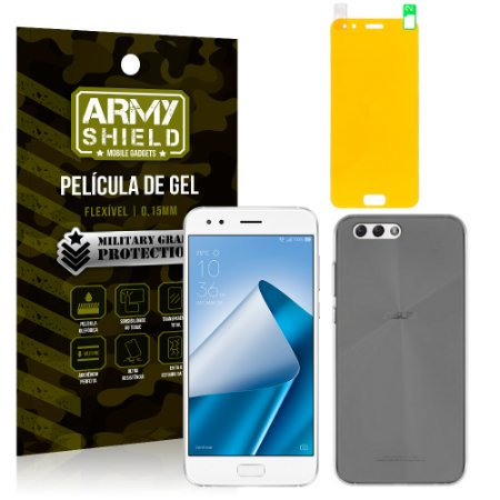 Kit Capa Fumê Asus Zenfone 4 ZE554KL 5.5 Película + Capa Fumê - Armyshield