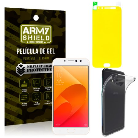 Kit Capa Silicone Asus Zenfone 4 Selfie Pro ZD552KL 5.5 Película + Capa - Armyshield