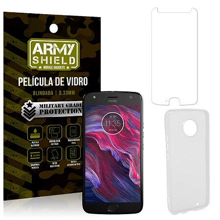 Kit Capa Silicone Motorola Moto X4 XT1900 5.2 Película + Capa - Armyshield