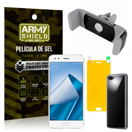 Kit Suporte Veicular Asus Zenfone 4 ZE554KL 5.5 Suporte + Película + Capa - Armyshield