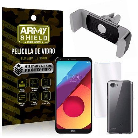 Kit Suporte Veicular LG Q6 / Q6 Plus M700TV 5.5 Suporte + Película + Capa - Armyshield