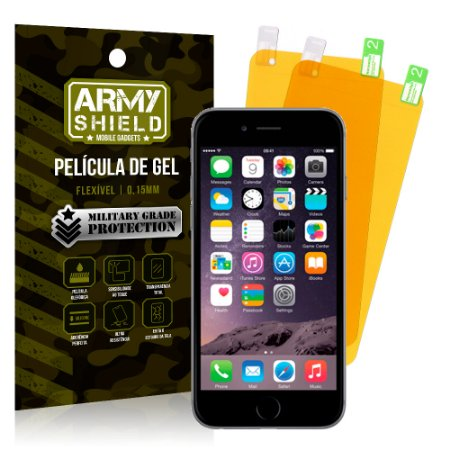Kit 2 Películas de Gel Apple iPhone 6 - 6S - Armyshield