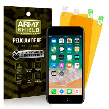 Kit 2 Películas de Gel Apple iPhone 7 Plus - Armyshield