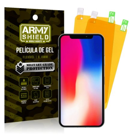 Kit 2 Películas de Gel Apple iPhone X- Armyshield