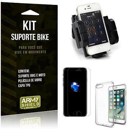Kit Suporte Moto Bike Apple iPhone 7 Plus Suporte + Película + Capa - Armyshield