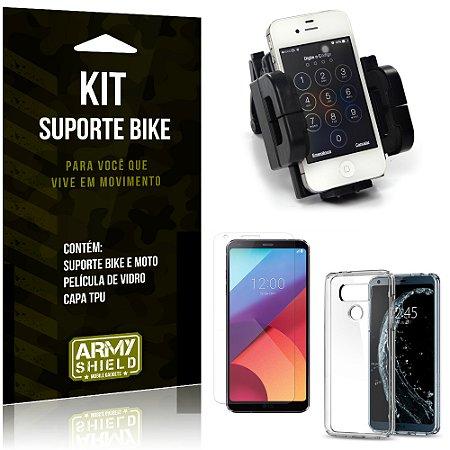 Kit Suporte Moto Bike LG G6 Suporte + Película + Capa - Armyshield