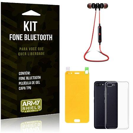 Kit Fone Bluetooth KD901 Asus Zenfone 4 - 5.5' ZE554KL Fone + Película + Capa - Armyshield