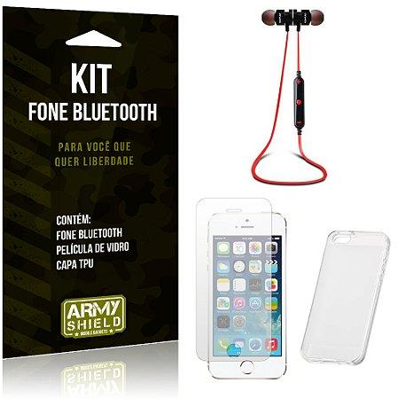 Kit Fone Bluetooth KD901 Apple iPhone 5 - 5S - 5SE Fone + Película + Capa - Armyshield