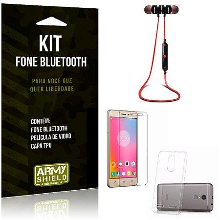 Kit Fone Bluetooth KD901 Lenovo K6 Plus Fone + Película + Capa - Armyshield