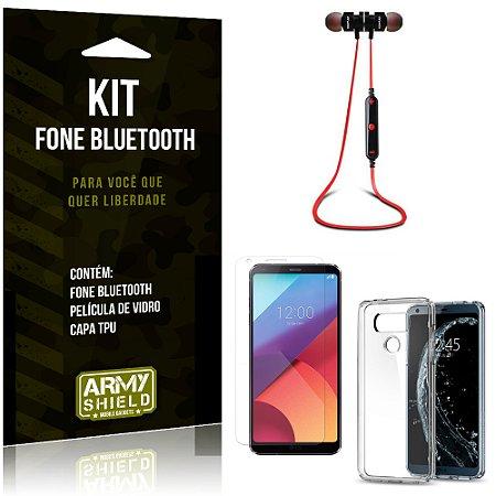 Kit Fone Bluetooth KD901 LG G6 Fone + Película + Capa - Armyshield
