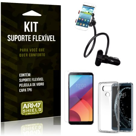 Kit Suporte Flexível LG G6 Suporte + Película + Capa - Armyshield