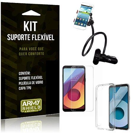 Kit Suporte Flexível LG Q6 Suporte + Película + Capa - Armyshield