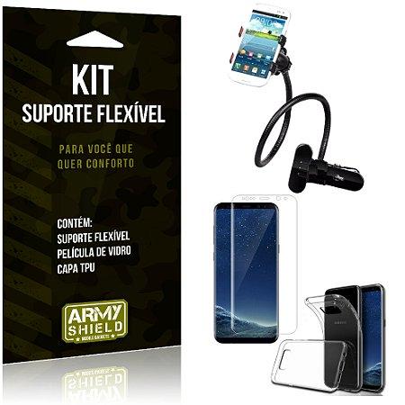 Kit Suporte Flexível Samsung Galaxy S8 Suporte + Película + Capa - Armyshield