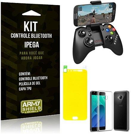 Kit Controle Bluetooth Zenfone 4 Selfie Pro - 5.5' ZD552KL Controle + Película + Capa - Armyshield