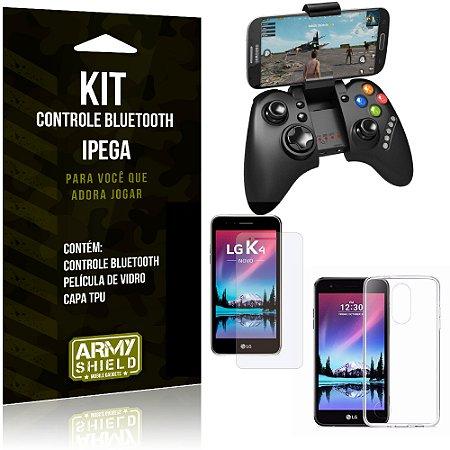 Kit Controle Bluetooth LG K4 Novo (2017) Controle + Película + Capa - Armyshield