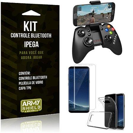 Kit Controle Bluetooth Samsung Galaxy S8 Controle + Película + Capa - Armyshield