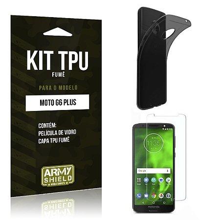Kit Capa Fumê Motorola Moto G6 Plus Película + Capa Fumê - Armyshield