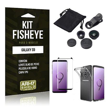 Kit Fisheye Galaxy S9 Lentes + Película + Capa - Armyshield