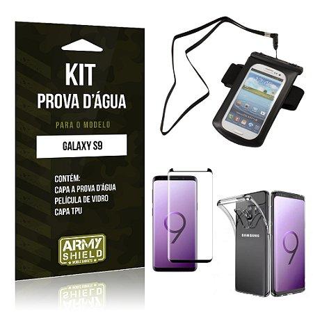 Kit Capa à Prova D'água Galaxy S9 Prova Dágua + Película + Capa - Armyshield