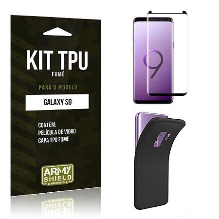 Kit Capa Fumê Galaxy S9 Película + Capa Fumê - Armyshield