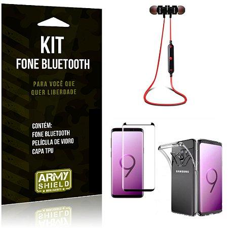 Kit Fone Bluetooth KD901 Galaxy S9 Fone + Película + Capa - Armyshield