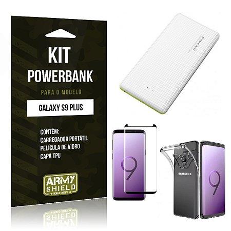 Kit Powerbank Tipo C Galaxy S9 Plus Powerbank + Película + Capa - Armyshield
