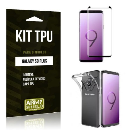 Kit Capa Silicone Galaxy S9 Plus Película + Capa - Armyshield