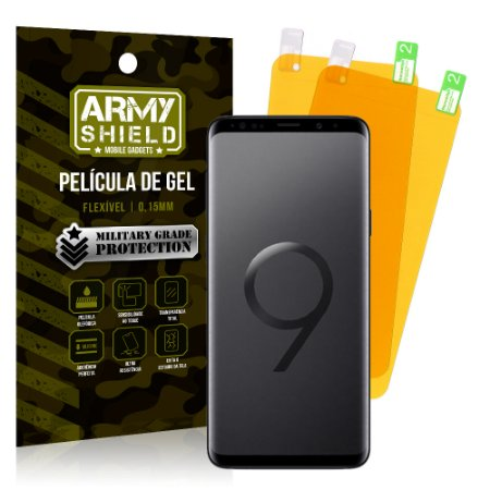 Kit 2 Películas de Gel Samsung Galaxy S9 Plus - Armyshield