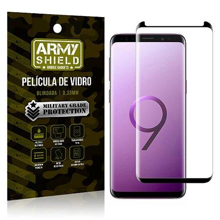 Película de Vidro Cobre a Tela Toda Samsung Galaxy S9 Plus Premium - Preto - Armyshield