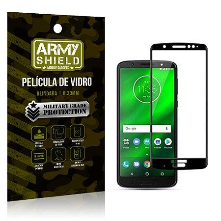 Película de Vidro Cobre a Tela Toda Motorola Moto G6 Premium - Preto - Armyshield