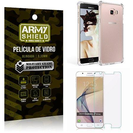 Kit Capa Anti Shock + Película de Vidro Samsung Galaxy J7 prime - Armyshield