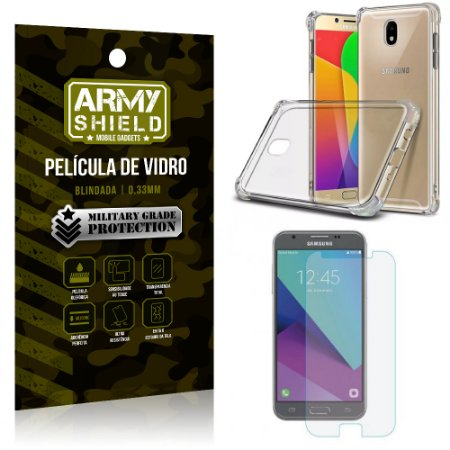 Kit Capa Anti Shock + Película de Vidro Samsung Galaxy J5 PRO - Armyshield