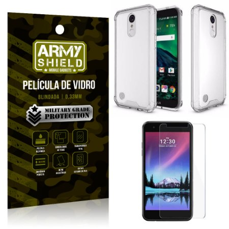 Kit Capa Anti Shock + Película de Vidro LG K8 2017 - Armyshield