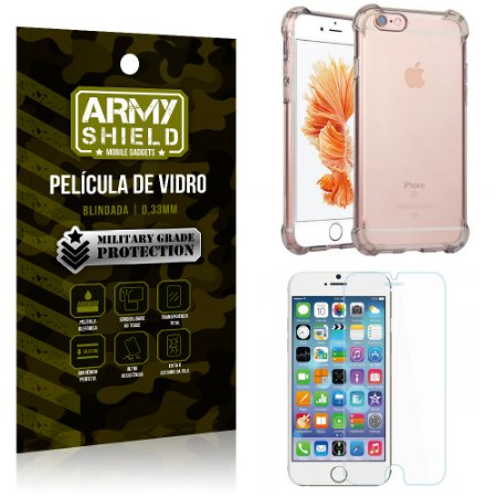 Kit Capa Anti Shock + Película de Vidro iPhone 6G - Armyshield