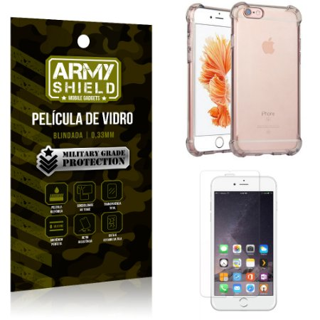 Kit Capa Anti Shock + Película de Vidro iPhone 6G plus - Armyshield