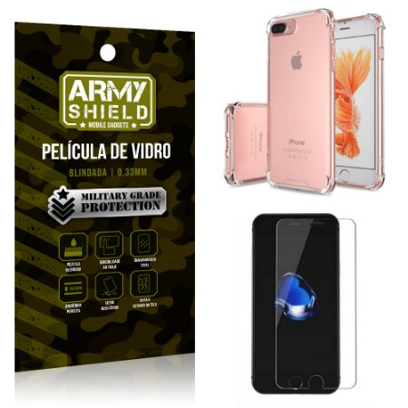 Kit Capa Anti Shock + Película de Vidro iPhone 7G PLUS - Armyshield