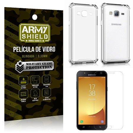 Kit Capa Anti Impacto + Película de Vidro Samsung Galaxy J7/J7 neo - Armyshield