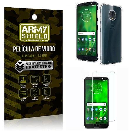 Kit Capa Anti Impacto + Película de Vidro Motorola Moto G6 PLUS - Armyshield