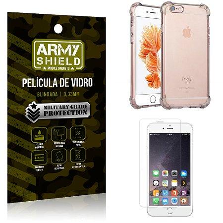 Kit Capa Anti Impacto + Película de Vidro iPhone 6G plus - Armyshield