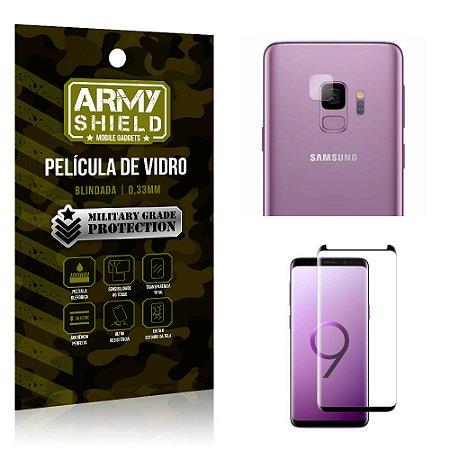 Kit Película de Lente Anti Risco + Película de Vidro Samsung Galaxy S9 - Armyshield