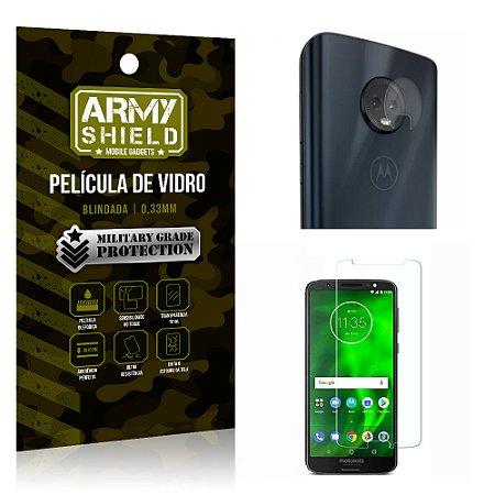 Kit Película de Lente Anti Risco + Película de Vidro Motorola Moto G6 - Armyshield