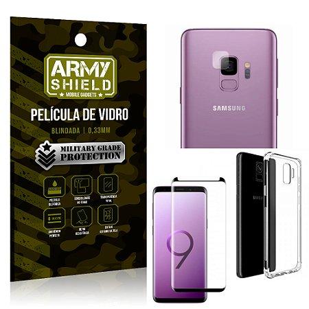 Kit Película de Lente + Película de Vidro + Capa Silicone Samsung Galaxy S9 - Armyshield