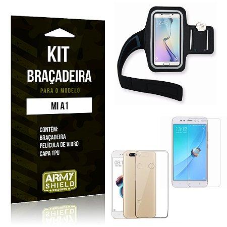 Kit Braçadeira Xiaomi Mi A1 Braçadeira + Capa + Película  - Armyshield