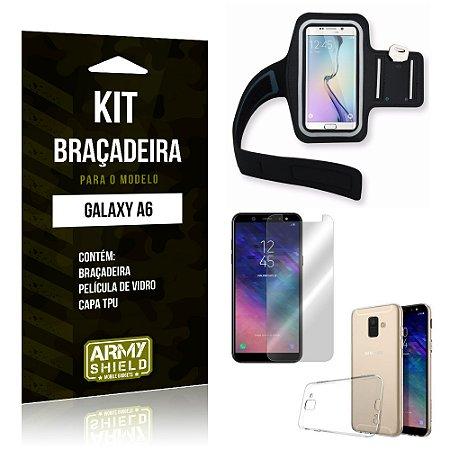 Kit Braçadeira Samsung A6 Braçadeira + Capa + Película  - Armyshield