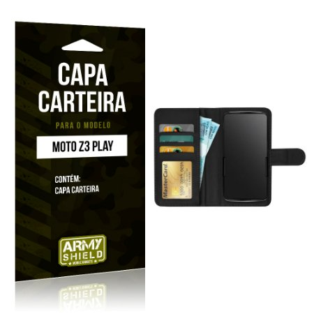 Capa Carteira Motorola Z3 Play - Armyshield