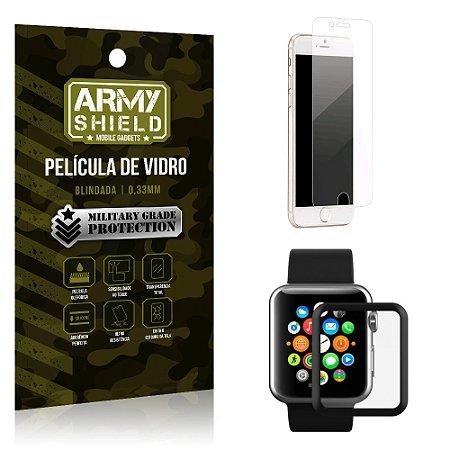 Kit Proteção Apple iPhone 8 e Watch Película iPhone 8 + Película Watch 38mm - Armyshield