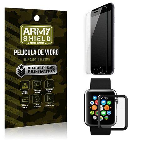 Kit Proteção Apple iPhone 7 Plus e Watch Película iPhone 7 Plus + Película Watch 42mm - Armyshield