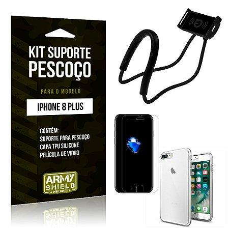 Kit Suporte Pescoço Apple iPhone 8 Plus Suporte + Capa + Película - Armyshield